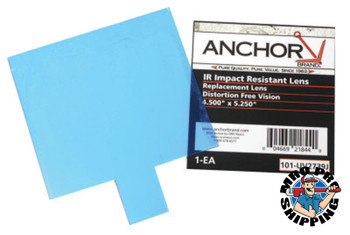 Anchor Products Cover Lens, Outside Cover Lens, 3 3/16 in x 6 3/8 in, 100% Polycarbonate (10 EA)