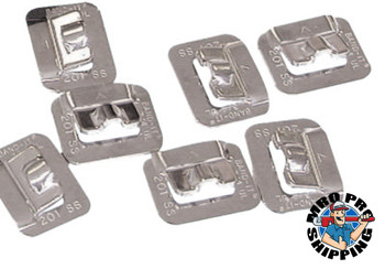 Band-It Ultra-Lok Buckles, 3/4 in, Stainless Steel 201, 100 per box (100 BX/CT)