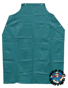 Anchor Products Bib Aprons, 45 in X 35 in, Vinyl, Green (1 EA)