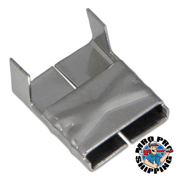 Band-It 316 Stainless Steel Clips, 3/8 in, Stainless Steel (100 BOX/CA)