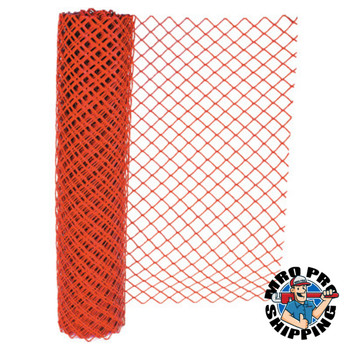 Anchor Products Chain Link Safety Fence, 4 ft x 100 ft, Polyethelene, Orange (1 EA)