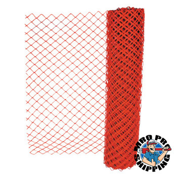 Anchor Products Safety Fences, 4 ft x 50 ft, Polyethelene, Orange (1 EA)