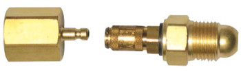 WeldCraft Quick Release Gas Couplers,  Used with Side Gas Hoses (1 EA/EA)
