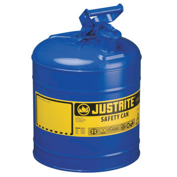 Justrite Type I Safety Cans, Flammables, 2 1/2 gal, Red, Funnel (1 EA/EA)