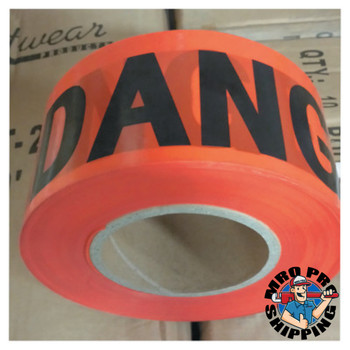 Anchor Products Economy Barrier Tape, 3 in x 1,000 ft, Red, Danger (1 EA)