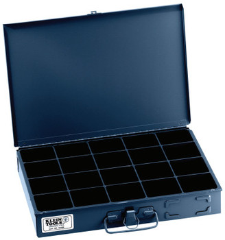 Klein Tools 20-Compartment Boxes, 13 5/16 in W x 9 3/4 in D x 2 in H, Gray (1 EA/EA)