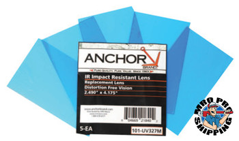 Anchor Products Cover Lens, Miller, Inside Cover Lens, 5 1/4 in x 4 1/2 in, 100% Polycarbonate (1 PK)