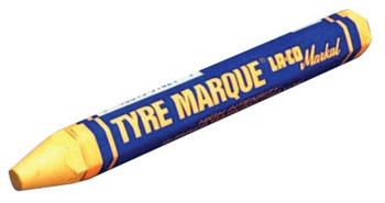 Markal Tyre Marque Rubber Marking Crayons, 1/2 in X 4 5/8 in, Yellow (1 EA/EA)