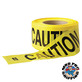 Anchor Products Economy Barrier Tape, 3 in x 1,000 ft, Yellow, Caution (1 EA)