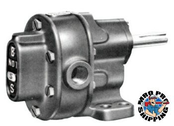 "BSM Pump B-Series Pedestal Mount Gear Pumps, 1/2"", 9.4 gpm, 200 PSI, Relief Valve, CW/CCW (1 EA/BOX)"