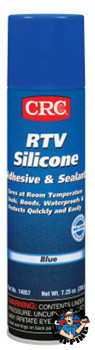 CRC RTV Silicone Adhesive/Sealants, 8 oz Pressurized Tube, Blue (12 CAN/SET)
