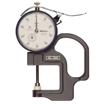 Mitutoyo Series 7 Ceramic Spindle Dial Thickness Gage, 0-100 Dial, 1 in Range (1 EA/CA)