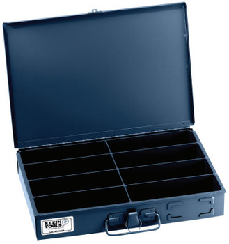 Klein Tools 8-Compartment Boxes, 13 5/16 in W x 9 3/4 in D x 2 in H, Gray (1 EA/EA)
