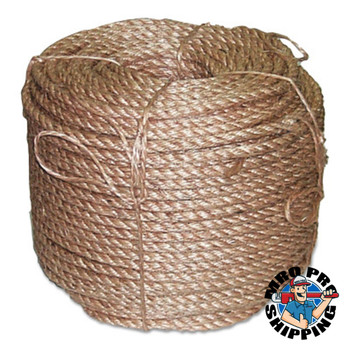 Anchor Products Manila Ropes, 3 Strands, 1/4 in x 2,500 ft (50 COIL/EA)