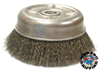 Anderson Brush Crimped Wire Cup Brush, UC/UCX Series, 6 in Dia., 5/8 Arbor, .014 Carbon Steel (1 EA/EA)