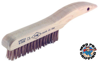 Ampco Safety Tools Scratch Brushes, 10 in, 4 X 16 Rows, Shoe Handle (1 EA/EA)