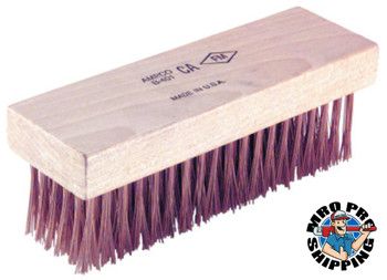Ampco Safety Tools Scratch Brushes, 7 1/4 in, 6 X 19 Rows,Flat Handle (1 EA/EA)