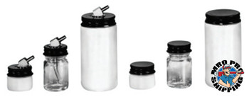 Binks Color Bottles w/Friction Connections, 1/2 oz, Cup, Glass (1 EA/EA)