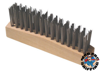 Anchor Products Chipping Hammer Brush, 3 X 15 Rows,Carbon Steel Wire, Straight Wood Handle (1 EA)