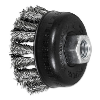 Advance Brush COMBITWIST Knot Wire Cup Brush, 2 3/4 in Dia., .02 in Stainless Steel Wire (5 EA/EA)