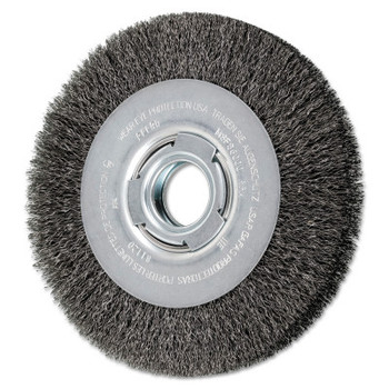 Advance Brush Medium Crimped Wire Wheel Brush, 7 D x 31/32 W, .014 Carbon Steel, 6,000 rpm (1 EA/EA)
