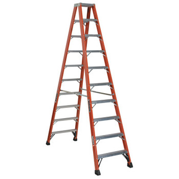 Louisville Ladder FM1400HD Series Brute 375 Twin Front Fiberglass Ladder, 10 ft x 83 1/8 in (1 EA/EA)