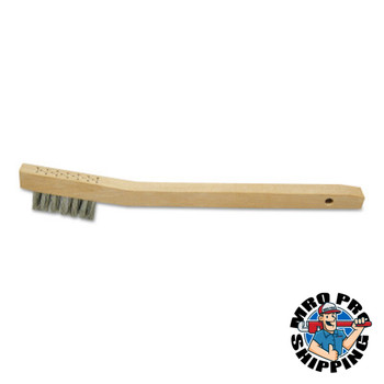 Anchor Products Chipping Hammer Brushes, 3 x 7 Rows, Carbon Steel Wire, Bent Wood Handle (1 EA)