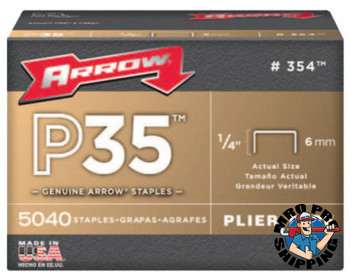 "Arrow Fastener 1/4"" STAPLES 5000 STAPLEPER BOX (1 BX/EA)"