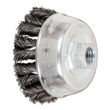 Advance Brush COMBITWIST Knot Wire Cup Brush, 3 1/2 in Dia., .02 in Carbon Steel Wire (1 EA/EA)
