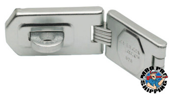 American Lock Single Hinge Hasps, 1 3/4 in W x 6 1/4 in L (6 EA/EA)