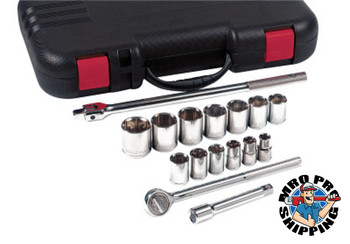 Anchor Products 17 Piece Standard Socket Sets, 1/2 in, 12 Point (1 ST)