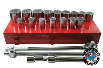 Anchor Products 21 Piece Socket Sets, 3/4 in, 12 Point (1 ST)