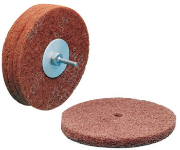 3M Scotch-Brite High Strength Discs, 6 X 1/2, 4,000 rpm, Aluminum Oxide,Very Fine (1 EA/EA)