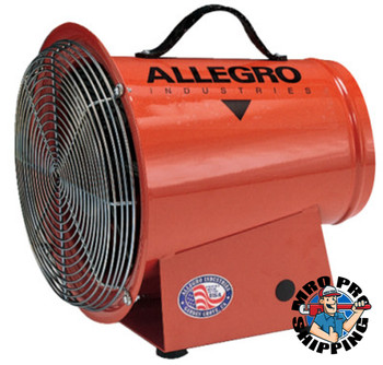 Allegro DC Axial Blowers, 1/4 hp, 12 VDC, 15 ft. Cord w/Alligator Clips (1 EA/EA)