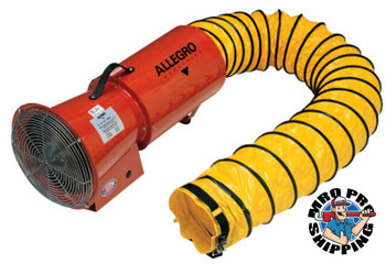 Allegro AC Axial Blowers w/Canister, 1/3 hp, 115 V, 25 ft. Ducting (1 EA/EA)