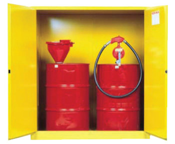 Justrite Vertical Drum Safety Cabinets, Manual-Closing, (2) 55 Gallon Drum, w/Support (1 EA/EA)