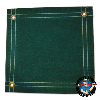 Anchor Products Protective Tarps, 12 ft Long, 10 ft Wide, Green Canvas (1 EA)