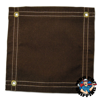 Anchor Products Protective Tarps, 12 ft Long, 10 ft Wide, Brown Canvas (1 EA)