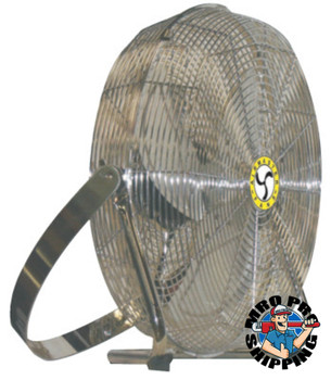 Airmaster Fan Company High Velocity Low Stand Fans, Swivel, Yoke Mount, 18 in, 1/8 hp, 3-Speed (1 EA/EA)