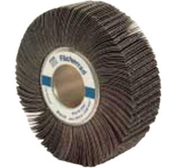 Pferd Arbor Hole Flap Wheels, 6 in x 1 in, 40 Grit, 6,000 rpm (2 CTN/EA)