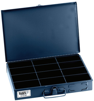 Klein Tools 12-Compartment Boxes, 13 5/16 in W x 9 3/4 in D x 2 in H, Gray (1 EA/EA)