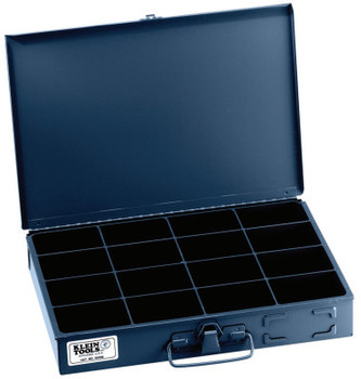 Klein Tools 16-Compartment Boxes, 13 5/16 in W x 9 3/4 in D x 2 in H, Gray (1 EA/EA)