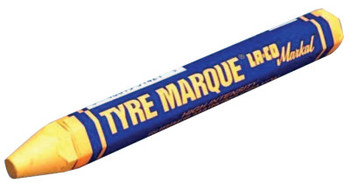 Markal Tyre Marque Rubber Marking Crayons, 1/2 in X 4 5/8 in, White (1 EA/EA)