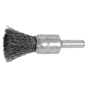 "Advance Brush Standard Duty Crimped End Brushes, Carbon Steel, 22,000 rpm, 1/2"" x 0.01"" (10 BOX/EA)"