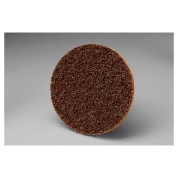 3M Scotch-Brite Roloc Discs, 3 in, 18,000 rpm, Aluminum Oxide, Brown (1 EA/EA)