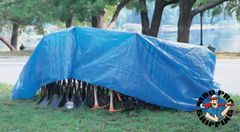 Anchor Products Multiple Use Tarps, 7 ft Long, 5 ft Wide, Polyethylene, Blue (1 EA/EA)