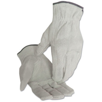Anchor Products 4000 Series Leather Driver Gloves, Split Cowhide, Medium, Unlined, Pearl Gray (12 PR/EA)