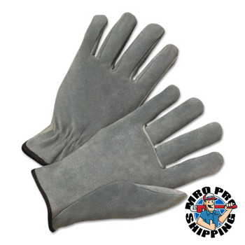 Anchor Products 4000 Series Leather Driver Gloves, Split Cowhide, Small, Unlined, Pearl Gray (12 PR/EA)