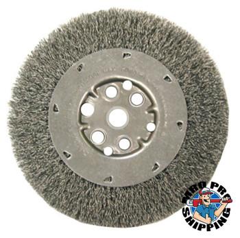 Anderson Brush Narrow Face Crimped Wire Wheel-DM Series, 8 D x 1/2 W, .008 Carbon, 4,500 rpm (5 EA/EA)
