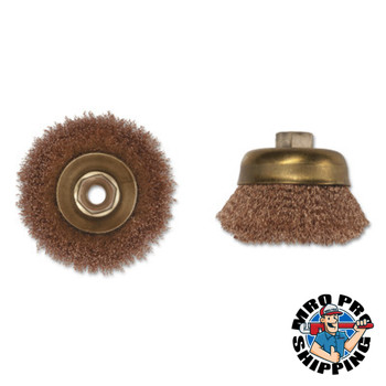 Ampco Safety Tools Crimped Wire Cup Brush, 3 in Dia., 5/8-11 Arbor, .014 in Wire (1 EA/EA)